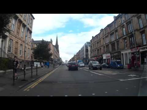 Drive Around Central Glasgow Scotland