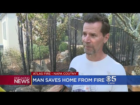 Man Saves His Home From Wildfire In Napa County