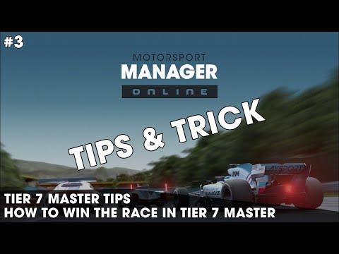 HOW TO WIN IN TIER 7 MASTER   MOTORSPORT MANAGER ONLINE