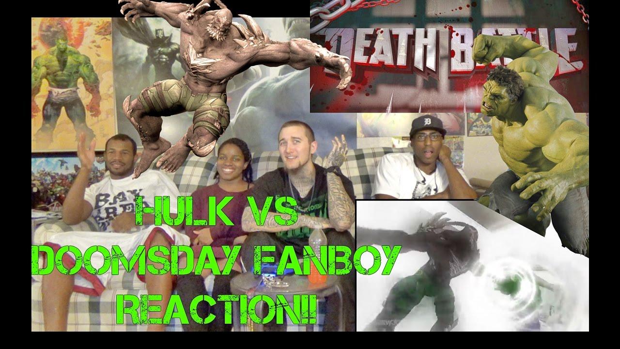Hulk Vs Doomsday DEATH BATTLE! - YouTube Doomsday Vs Hulk Death Battle Reaction