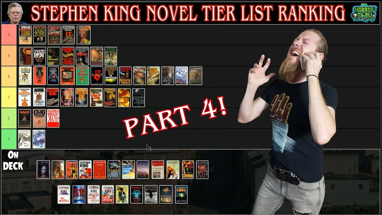 Stephen King Novel Tier List Ranking - Part 4 - The Horror Show