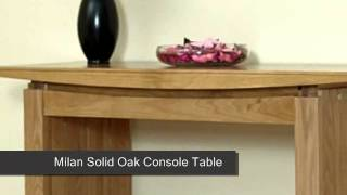 Milan Solid Oak Console Table