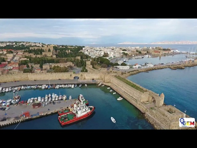 GEM Travel Rhodes - Aerial View of Rhodes Medieval Town (Old Town)