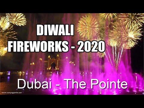 Diwali Fireworks 2020 – Dubai | Diwali Fireworks at THE POINTE | The Palm Fountain – Atlantis Dubai