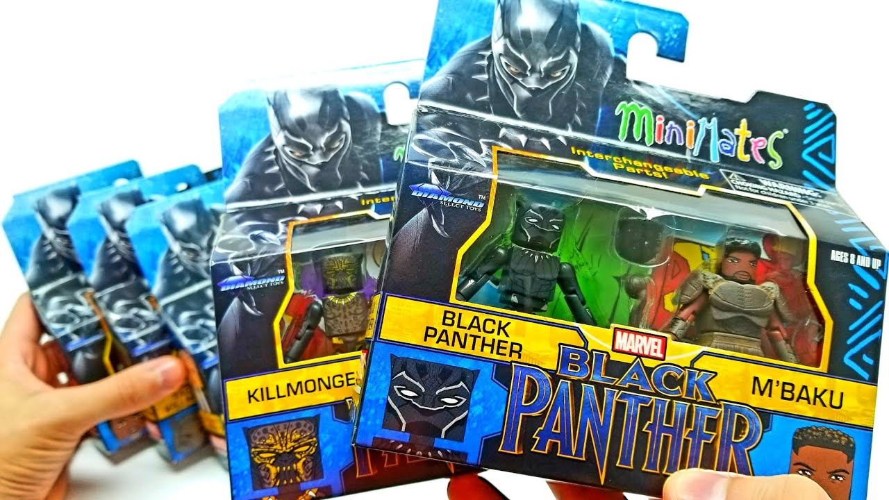 Black Panther Minimates Complete set with Exlcusives from Walgreen's and Toys R Us!