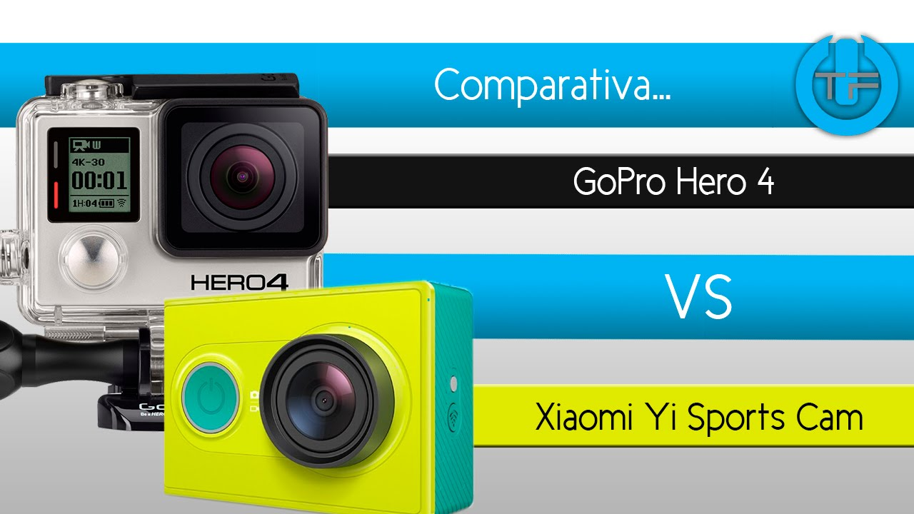 comparativa gopro hero 4 vs xiaomi yi sports cam doovi. Black Bedroom Furniture Sets. Home Design Ideas