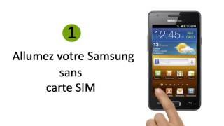 deblocage d`un téléphone portable Samsung I9103 Galaxy R