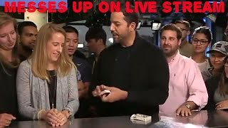 WOW!!!!! David Blaine messes up A TRICK, the GREATEST Magicians ever, on LIVE TV. HD Redeems Himself