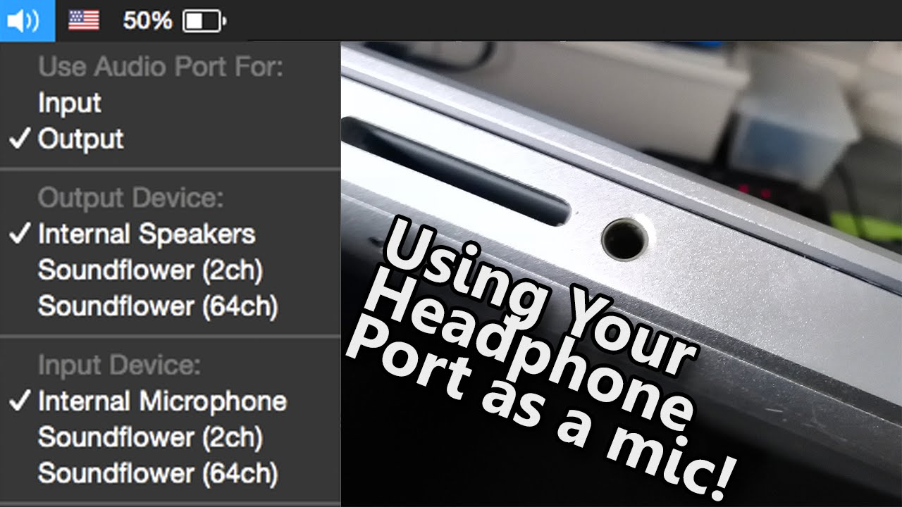 How to use your Headphone Port as a mic!