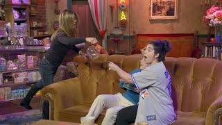 Jennifer Aniston Scares Fans at Central Perk
