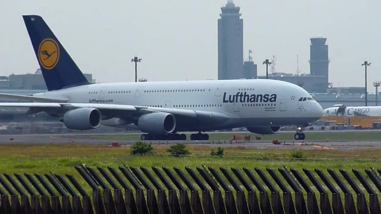 Inaugural Flight Lufthansa Airbus A380 800 D Aima Takeoff From Nrt Tokyo Narita Rwy 16r You