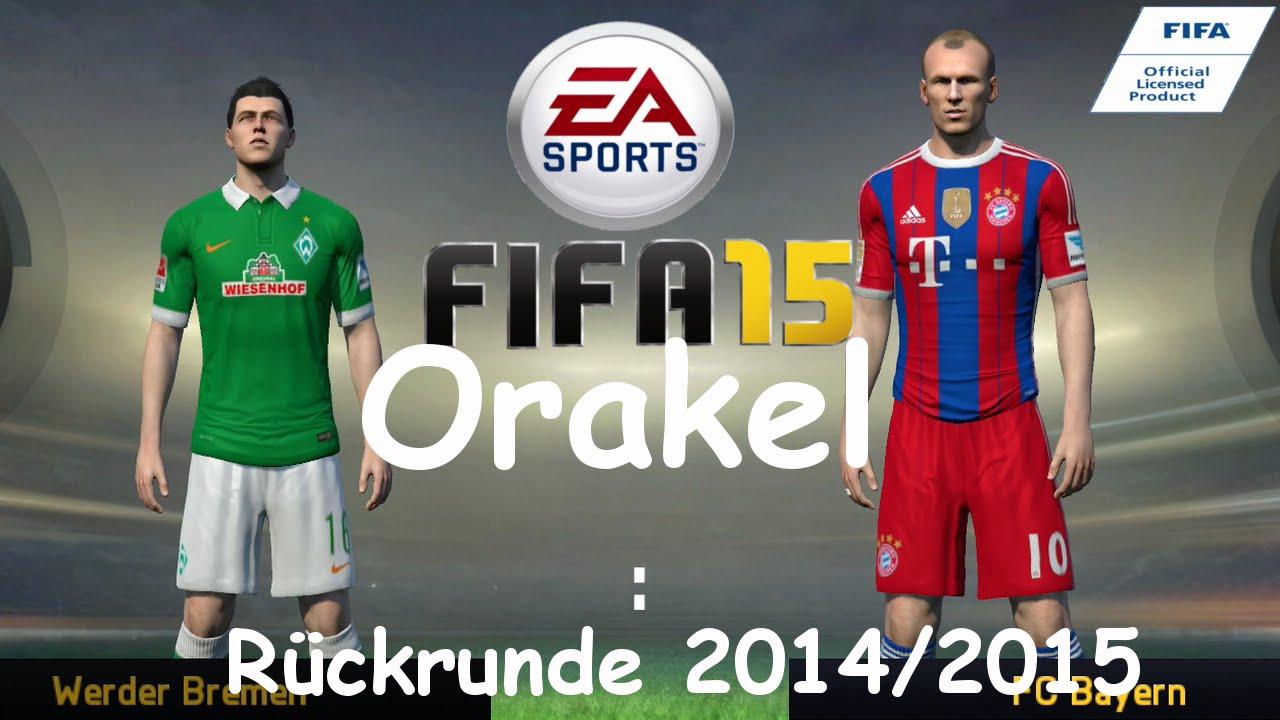 Fifa 15 Bayern Orakel Sv Werder Bremen Vs Fc Bayern München Ps4
