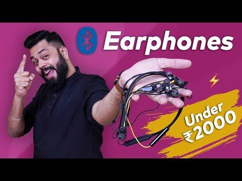 TOP 6 BEST BLUETOOTH EARPHONES UNDER ₹2000 ⚡⚡⚡December 2019