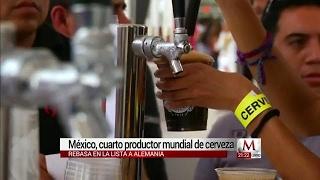 México supera a Alemania en producción de cerveza