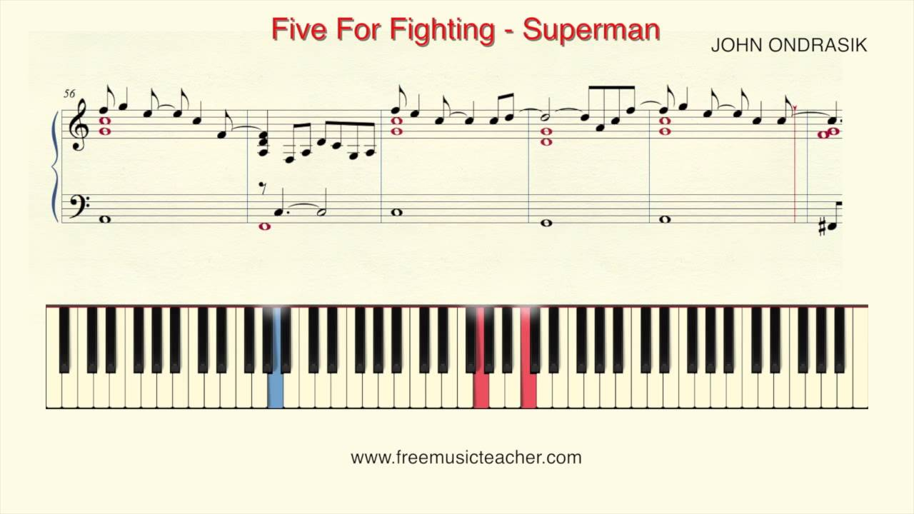 How to play piano five for fighting superman piano tutorial by how to play piano five for fighting superman piano tutorial by ramin yousefi hexwebz Choice Image