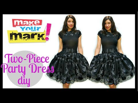 How to party dress diy youtube for Diy party dress