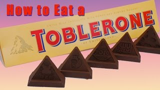 HOW TO EAT A TOBLERONE PROPERLY!