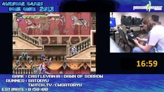 Castlevania: Dawn of Sorrow - Speed Run in 0:44:59 (Soma) by Satoryu [DS]