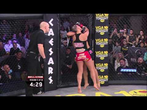 Bellator MMA Moment: Jessica Eye's Standing Arm Triangle Choke