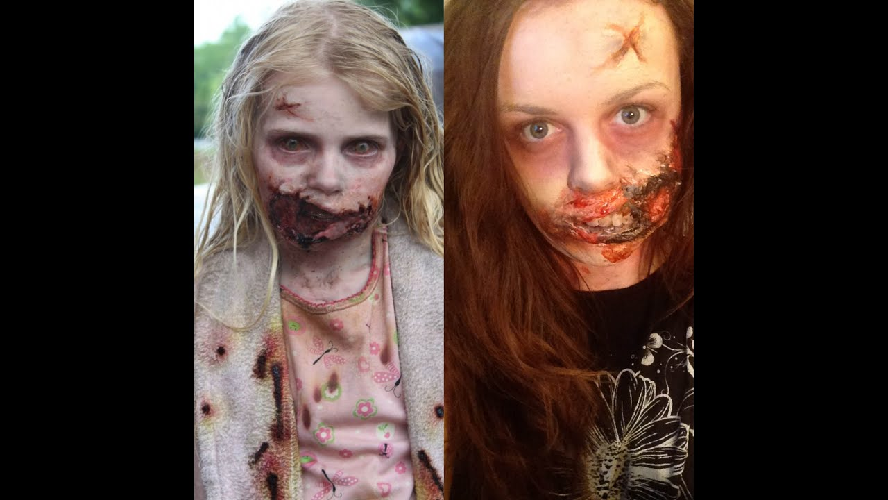 Zombie Makeup Inspired by The Walking Dead - YouTube