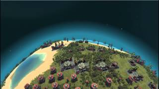 Planetary Annihilation - Fully Populated Planet
