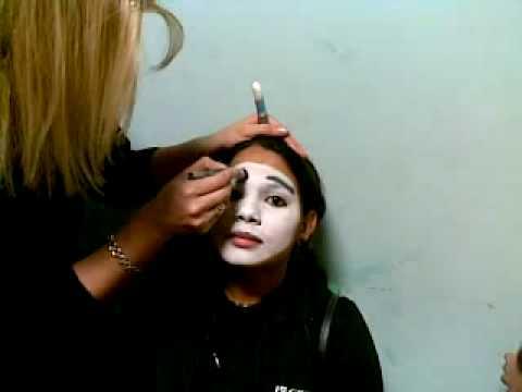 maquillaje de mimo - YouTube