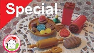 Playmobil Ideen - Gebäck kneten für die Playmobil Familie Hauser
