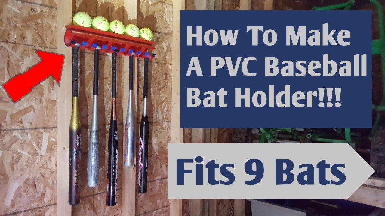 How To Make A Baseball Bat Rack Fits 9 Bats And