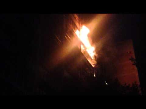 Воронеж пожар на Моисеева  7.09.2015