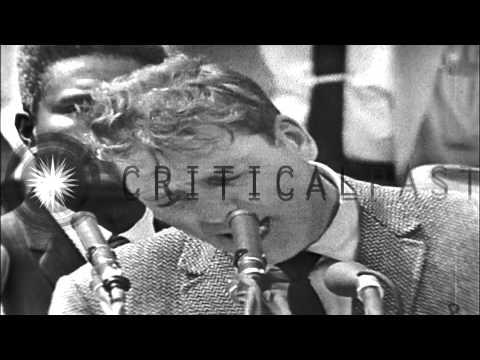 "Burt Lancaster speaks at the ""March on Washington"" August 28, 1963"
