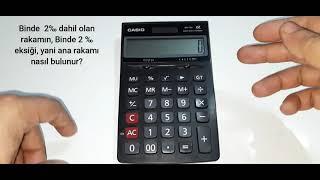 Hesap makinesi ile binde hesaplama - Binde nasıl hesaplanır? - 1000'de hesaplama nasıl yapılır?