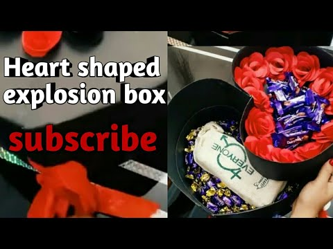 #heart#shaped#explosion#box how to make paper heart shaped explosion box.