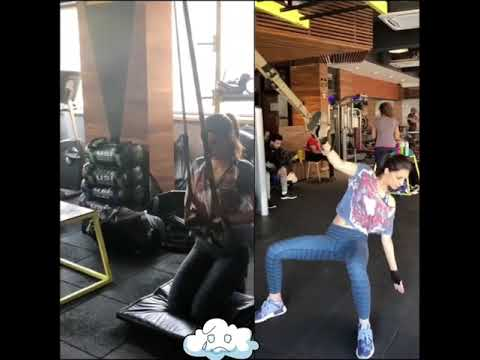 Kriti Sanon Hot Thigh and Boob Exercise | Bollywood Actress 2018 thumbnail