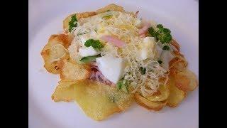 Самодельные чипсы, салат с чипсами, салат с чипсами пошаговый