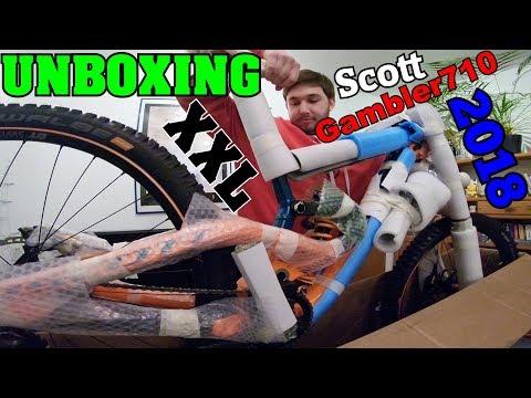UNBOXING SCOTT GAMBLER 710 2018   Mein neues Downhill-Bike!   DownhillSucht
