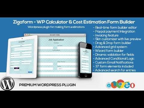 how to create an estimation form zigaform wp calculator cost