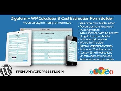 How to create an estimation form | Zigaform WP Calculator & Cost ...
