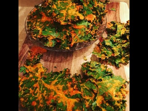 CHEESY KALE CHIPS(no fat no salt all FLAVOR) dehydrated series