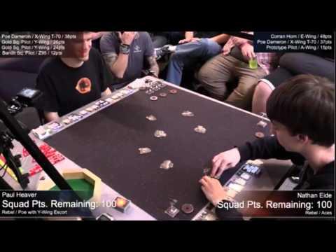 2015 X Wing World Championship  - Paul Heaver vs Nathan Eide - FFG Twitch Livestream