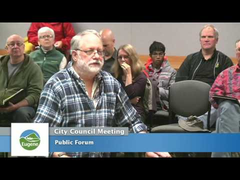 Eugene City Council Meeting: October 24, 2016