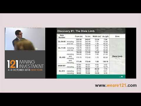 Presentation: Great Bear Resources - 121 Mining Investment New York October 2018