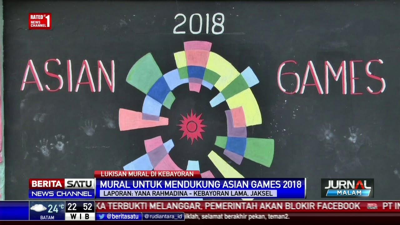 Hasil gambar untuk asian games mural