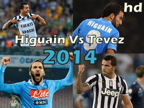 Gonzalo Higuain vs Carlos tevez Serie A 2014 Juventus vs Napoli Duelo de Argentinos