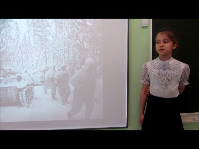 Изображение предпросмотра прочтения – АринаКособокова читает произведение «Утро победы» А.А.Суркова