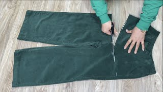 [DIY] Look at the recycling of the pants you don't wear. | You'll love it so much.