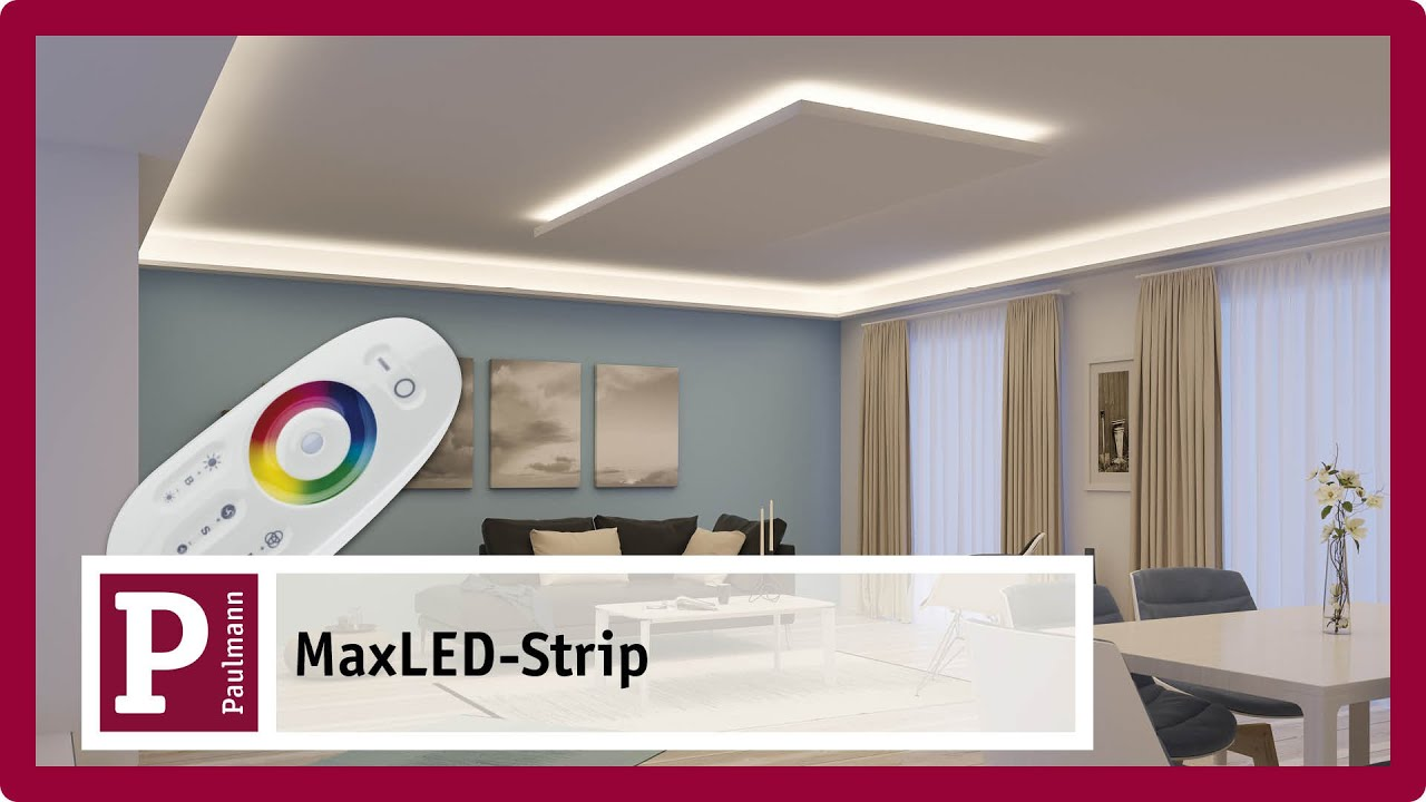 Indirekte blendfreie LED Raumbeleuchtung mit MaxLED Strips ...