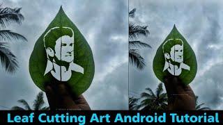 Leaf Cutting Art Effect In PicsaArt | Sushant Singh Rajput Leaf Artwork 2020