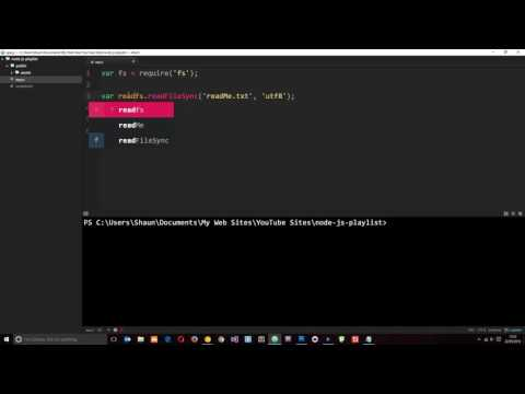 Node JS Tutorial For Beginners #9 - Reading & Writing Files (fs)