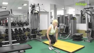Комплекс упражнений в домашних условиях, с гантелями, по принципу круговой тренировки