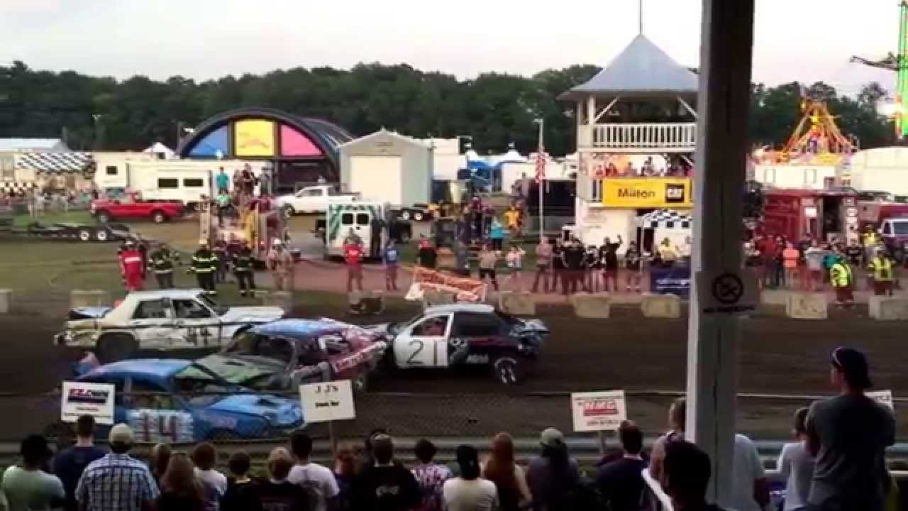 demolition derby 2015 saratoga county fair round 3 youtube